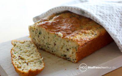 Luftiges Low-Carb-Brot mit Bärlauch