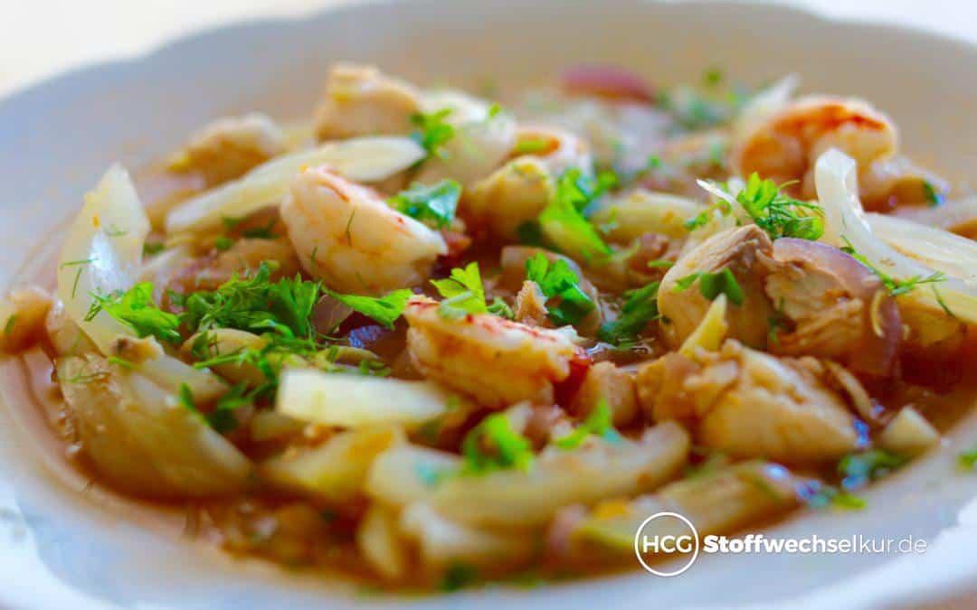 Leckere Fischsuppe mit frischem Fenchel