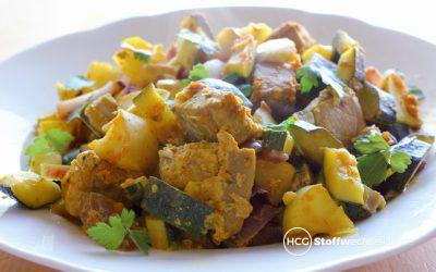 Fruchtiges Thunfisch-Curry aus dem Ofen