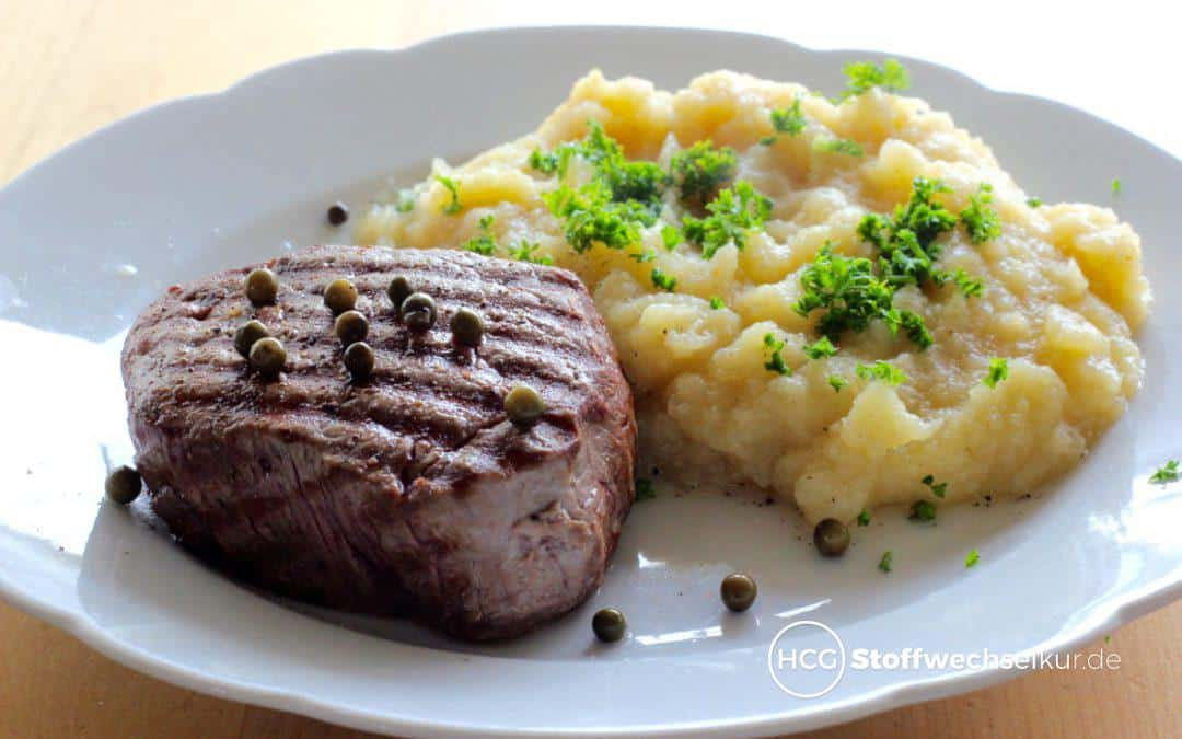 Saftiges Rinderfilet mit Selleriepüree