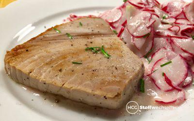 Thunfischsteak mit Radieschensalat
