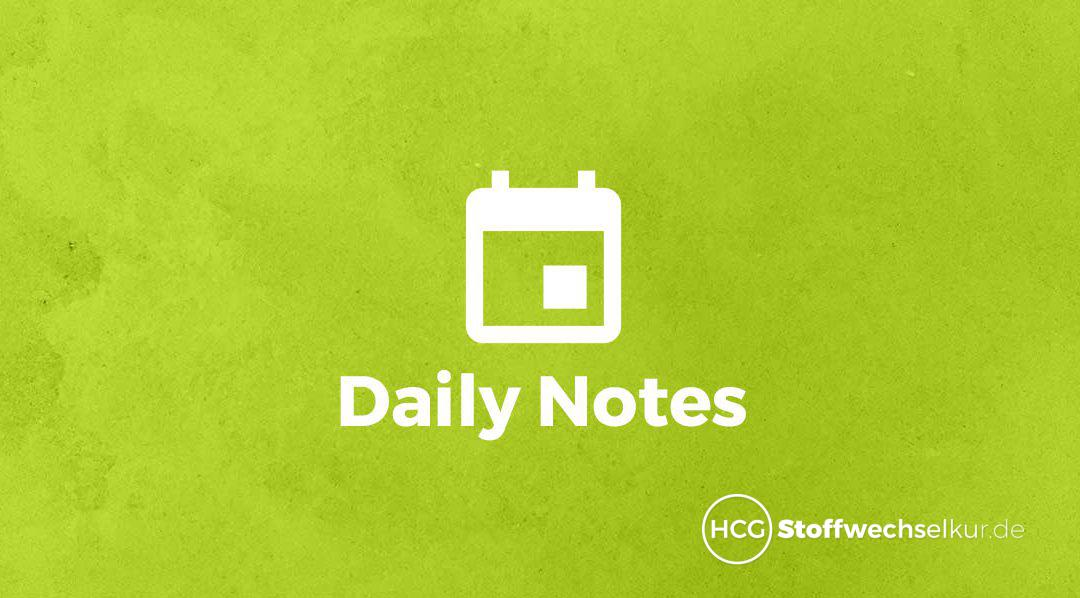 Daily Notes – Diätphase Tag 5