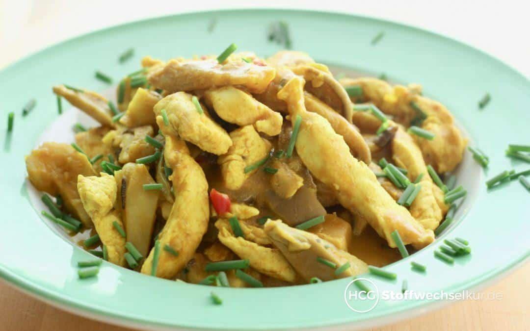 Hähnchen-Curry mit Austernpilzen – leicht scharf